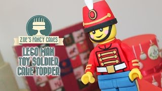 Lego cake topper toy soldier for Christmas