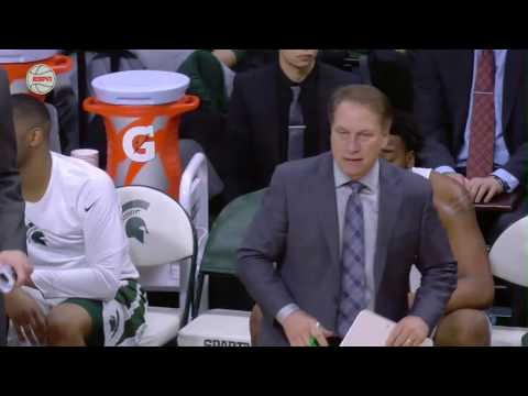 Tom Izzo Breaks the Clip Board During Purdue Game
