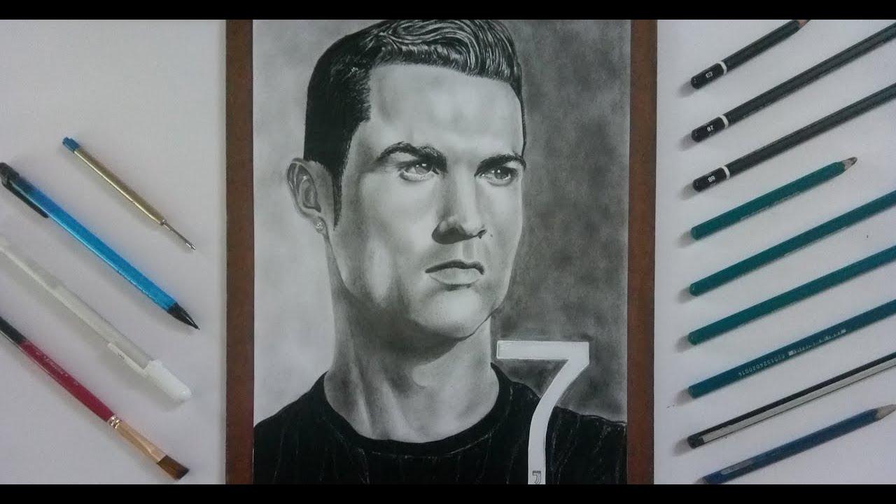 Drawing Cristiano Ronaldo   cr7   realistic pencil drawing ...