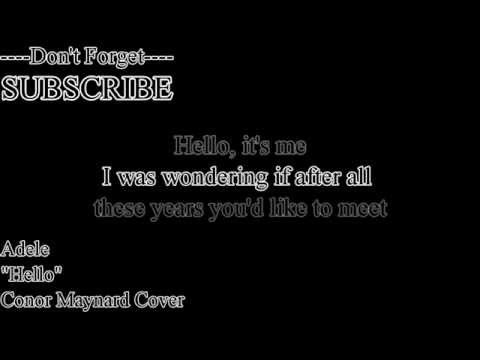 Adele - Hello (Lyric) Conor Maynard (Cover)