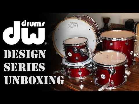 DW Design Series Drum Kit Unboxing