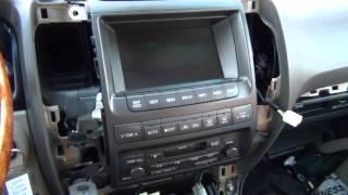 Lexus GX470 Снятие магнитофона