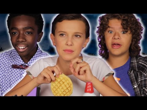 """The Cast Of """"Stranger Things"""" Reveal Set Secrets (While Decorating Waffles)"""