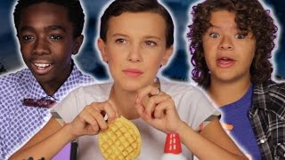 the cast of stranger things reveal set secrets while decorating waffles