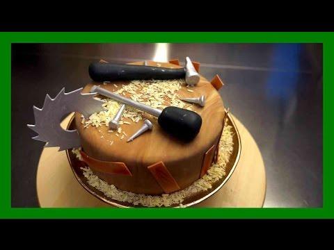 handwerker fondant torte einfache schreiner handwerker motivtorte tutorial kuchenfee. Black Bedroom Furniture Sets. Home Design Ideas