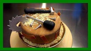 handwerker Fondant Torte - Einfache Schreiner / Handwerker Motivtorte - Tutorial - Kuchenfee
