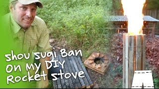 How To Do Shou Sugi Ban On A Rocket Stove