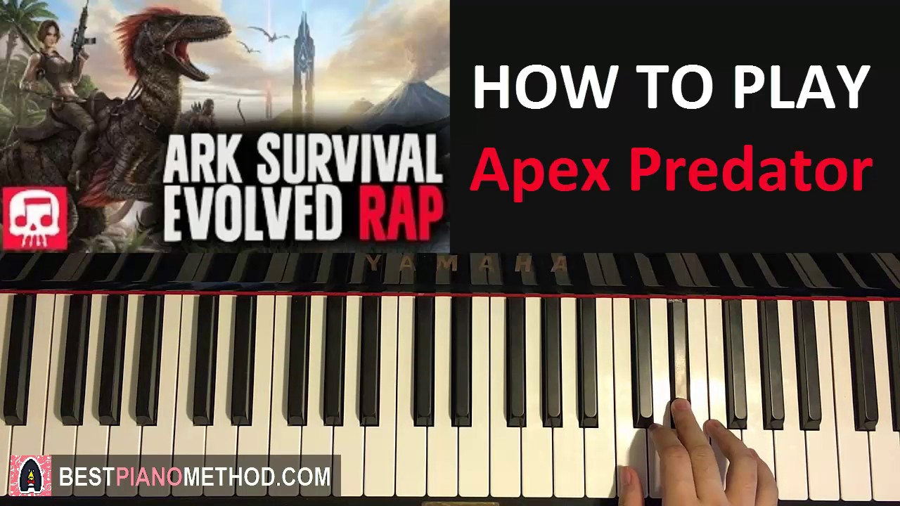 how to play ark survival evolved song apex predator jt machinima piano tutorial lesson. Black Bedroom Furniture Sets. Home Design Ideas