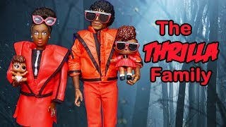 Barbie LOL Families ! The Thrilla Family in Spooky Forest | Toys and Dolls Pretend Play for Kids