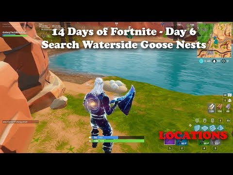 14 Days Of Fortnite - Search Waterside Goose Nests Locations