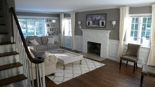 Colonial home renovation Before and after