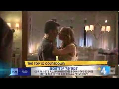 Josh Bowman and Emily VanCamp behind the scenes of Season 3 of ABC's Revenge