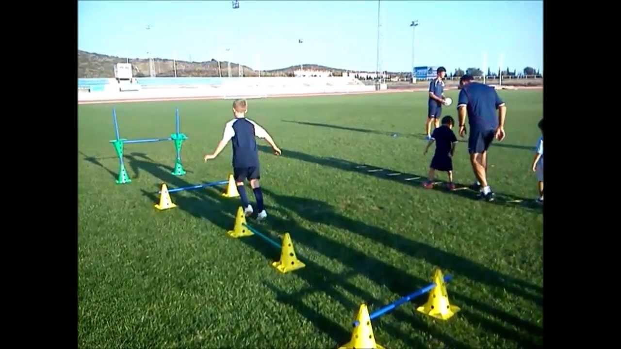 Ejercicios En Circuito Y Coordinacion : Calentamiento coordinación futbol niños youtube