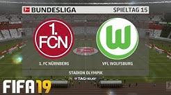⚽ FIFA 19 Bundesliga 1. FC Nürnberg : VfL Wolfsburg 🏆 Gameplay Deutsch Livestream