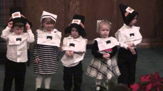Pilgrims & Indians Song - WBC Preschool Thanksgiving Program 2013