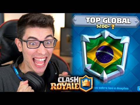 REPRESENTEI O BRASIL NO TOP GLOBAL DO CLASH ROYALE? Diário do Top 1