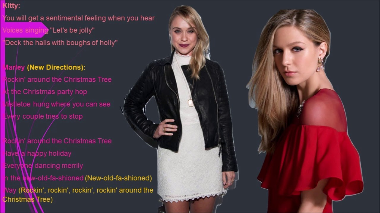 Rockin' Around The Christmas Tree Glee Lyrics - YouTube