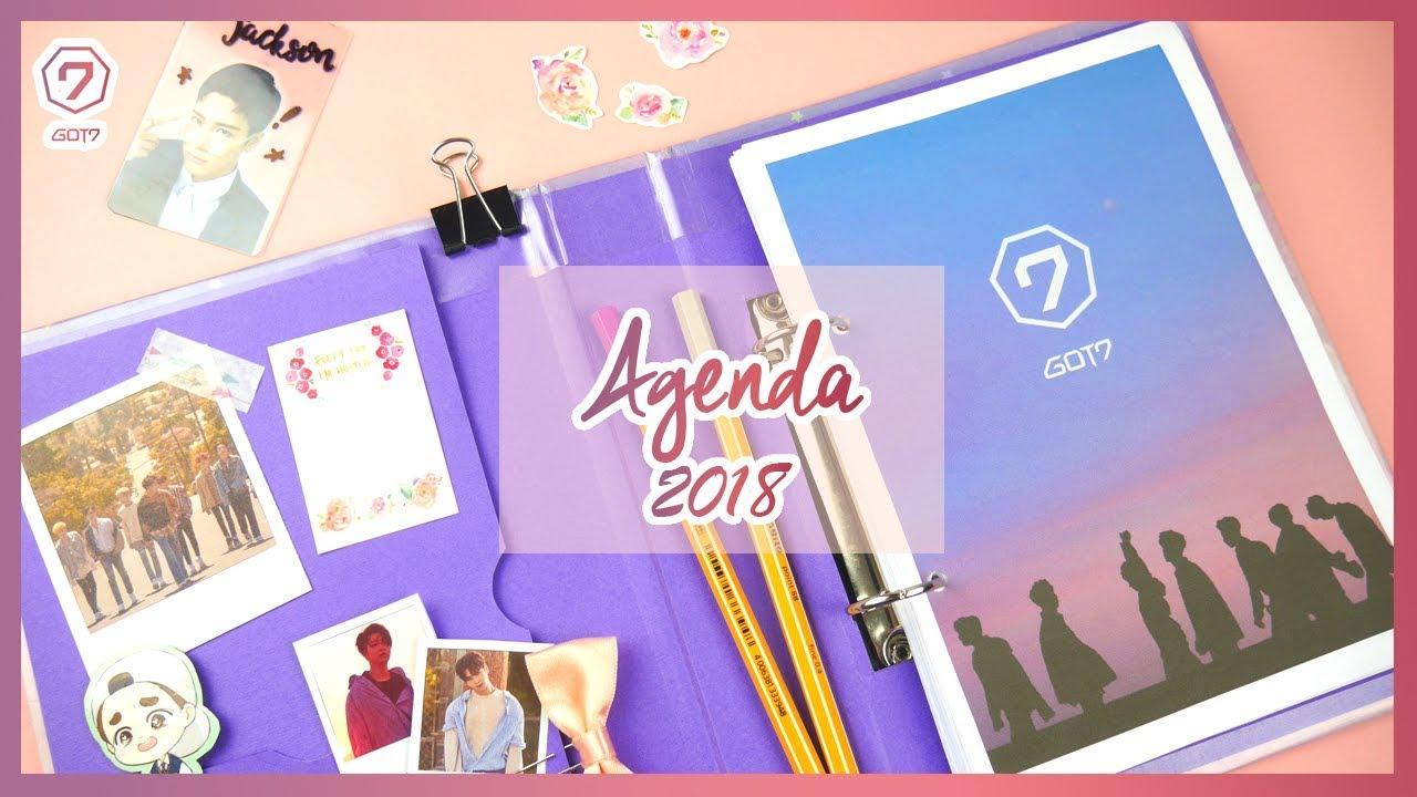 DIY K-POP : Haz tu agenda de GOT7 2018 + Te regalo un ...