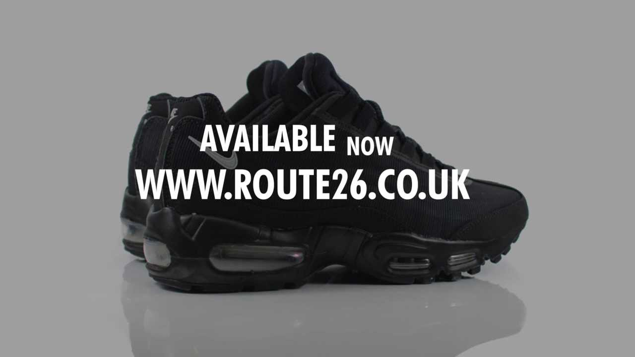 6ccba6992a Route 26 - Nike Air Max 95 Premium Tape - Black/Silver - Reflective Pack -  599425 002