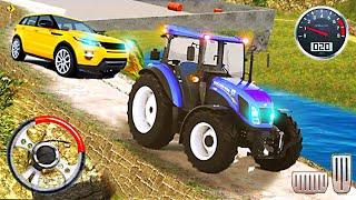 Heavy Tractor Pulls Car & Farming Drive Simulator - Permainan Traktor Penyelamat Android Gamesa screenshot 4