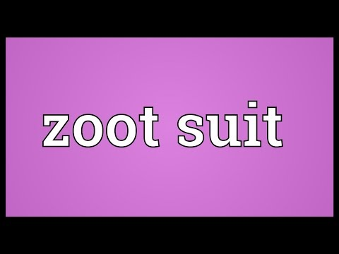 Zoot suit Meaning