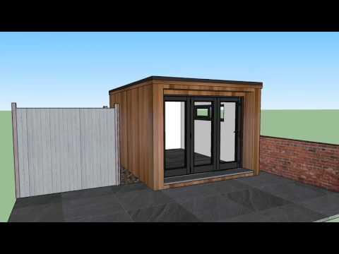 3m x 4m Concave Garden Room design