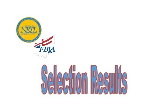 2018-2019 Ndcl Fbla Officer Selections