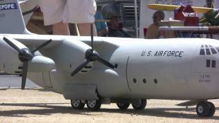 Rc giant airplane airshow Black Starr 2010 July Part II
