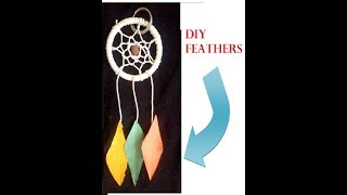 Easy dream catcher keychain | DIY feathers