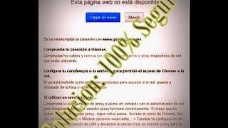 Error 404, Pagina Web No Disponible (Solución 100% Seguro)