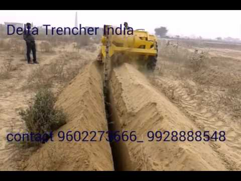 Trencher for cable laying work from Delta Trencher