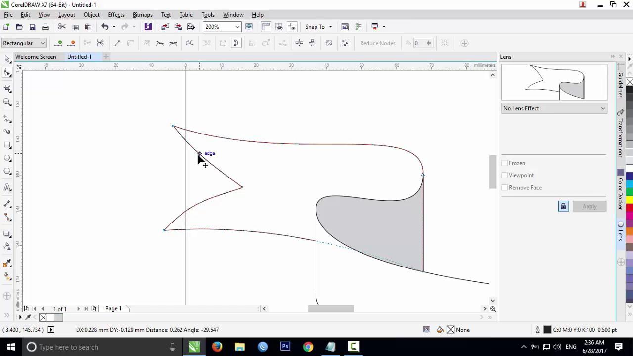 Coreldraw vector graphics - Coreldraw Drawing A Ribbon Vector For Beginner