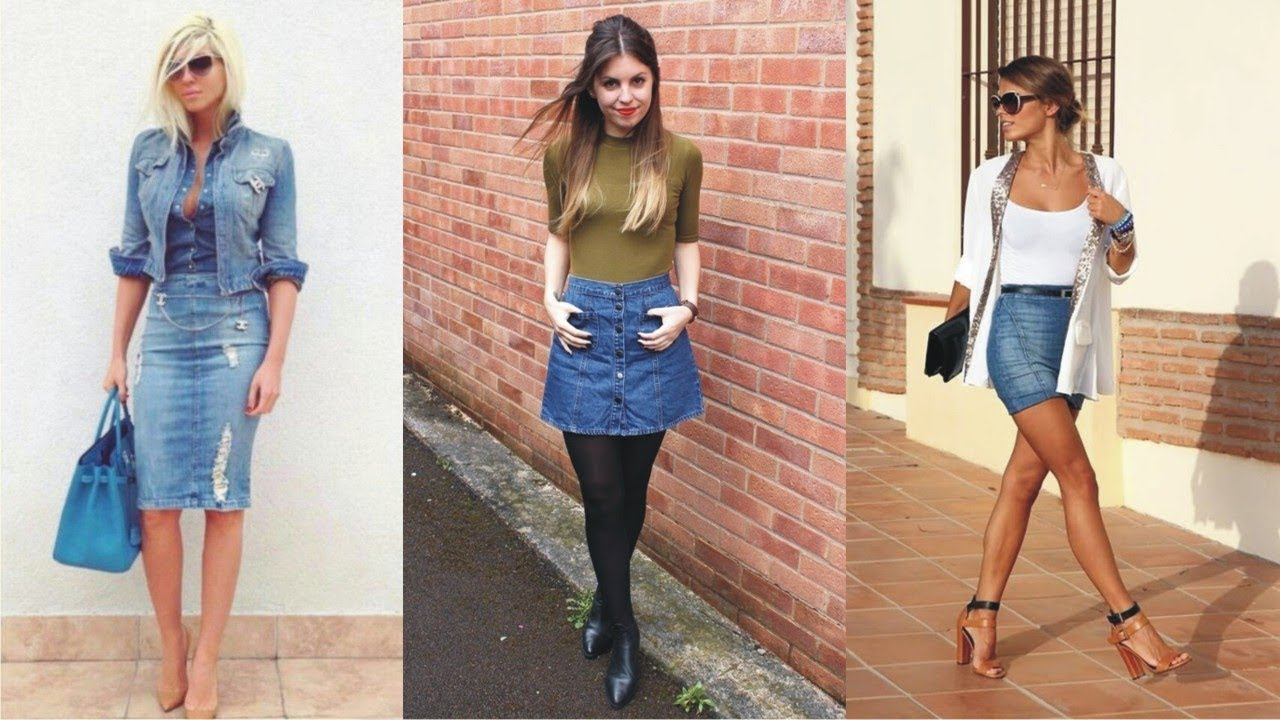 buy online online sale unparalleled Excellent Jean Skirt Outfits For Summer