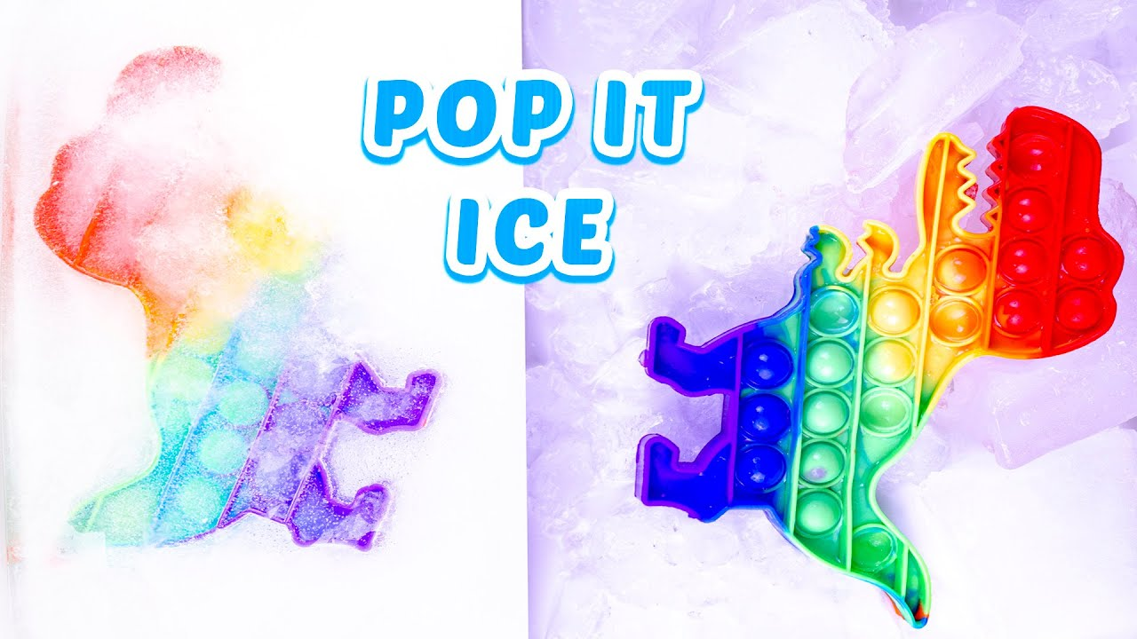 POP IT dino  rainbow  - ICE age #popit #fidget