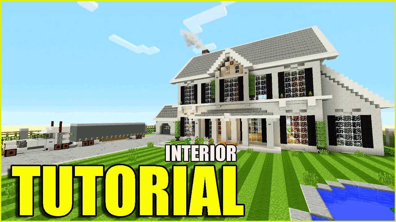 minecraft tutorial how to make a suburban house interior top