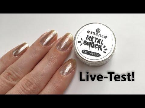 Produkttest Metal Shock Nail Powder von essence | 'seni Nageldesign