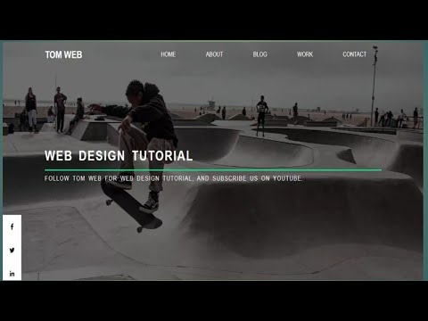 Advance image slider in header with animation effect, JavaScript tutorial thumbnail