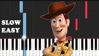 TOY STORY - YOU'VE GOT A FRIEND IN ME (SLOW EASY PIANO TUTORIAL)