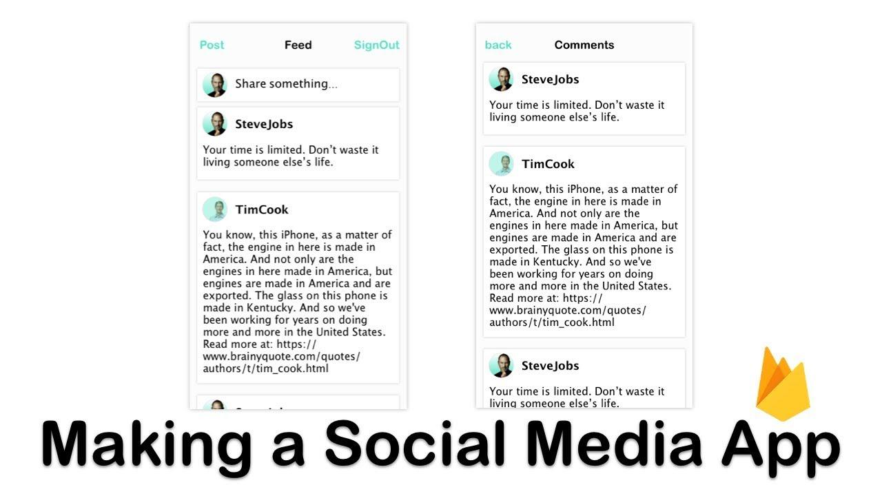 Making a Social Media App 2: Episode 1 (Swift 4, Xcode 9) - YouTube