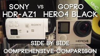 Sony HDR-AZ1 vs GoPro Hero4 BLACK HD