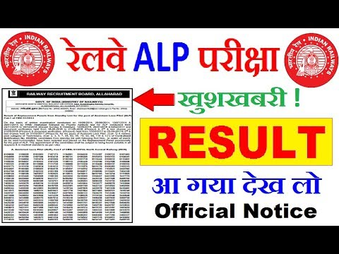 Railway ALP Result Official Notice || Cut Off Marks | RRB Loco Pilot Result Declared