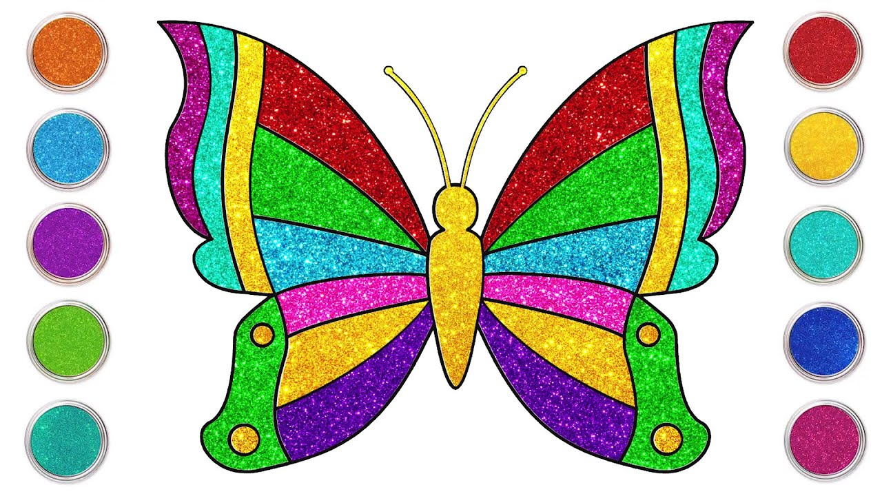 Cómo dibujar una mariposa - Dibujos sencillos | Chiki-Arte Aprende a Dibujar