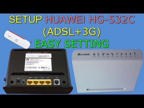 New Firmware Of Huawei Hg532c Router And Setup (ADSL+3G) | 3G و Adsl على Hg532c تحديث و إعداد راوتر