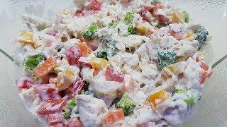 Салат с крабовым мясом. Быстрый и легкий.