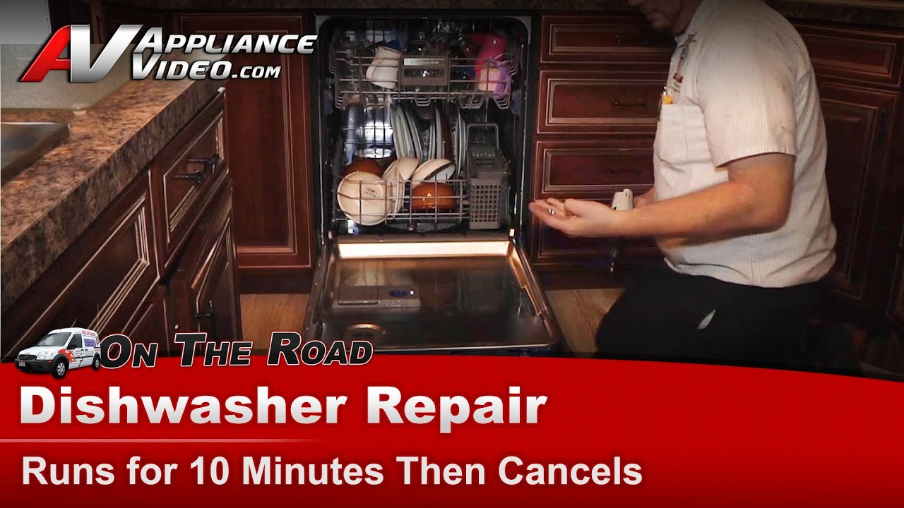 Kitchenaid Dishwasher Repair - Runs for 10 to 20 minutes then cancels and  drains - KUDS30IXBL2