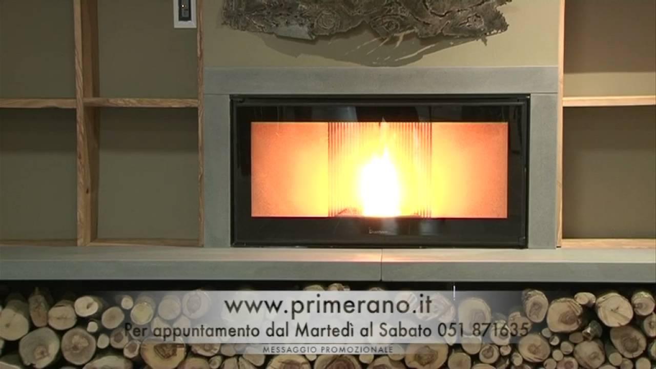 Caminetto a pellet primerano2015 1min 01 youtube for Caminetti primerano