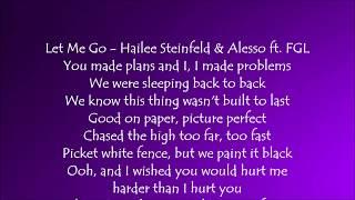 Video Let Me Go - Hailee Steinfeld and Alesso ft. Florida Georgia Line Lyrics download MP3, 3GP, MP4, WEBM, AVI, FLV Agustus 2018