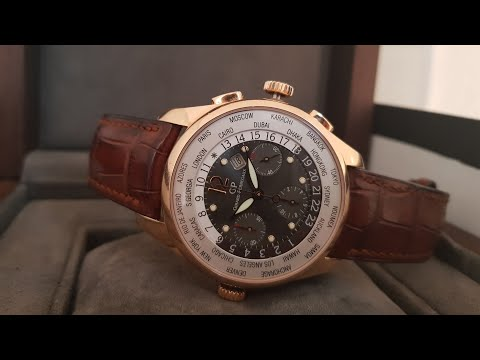 Как пользоваться Мировым временем (World Time) в часах Girard-Perregaux Traveller  49805!