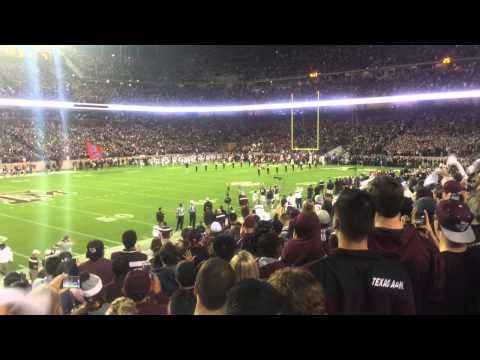 Kyle Field 110,000 people team entrance Texas A&M Aggies