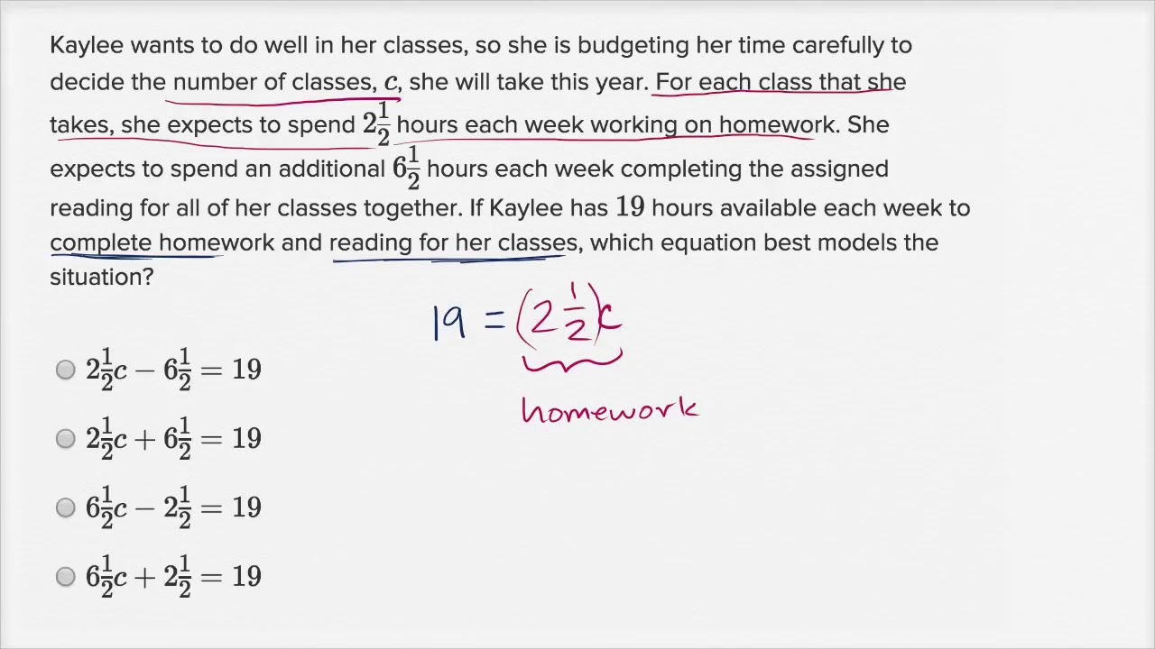 Linear equation word problems — Basic example (video)   Khan Academy [ 720 x 1280 Pixel ]